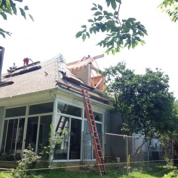 Roof installation by Porter Family Contracting