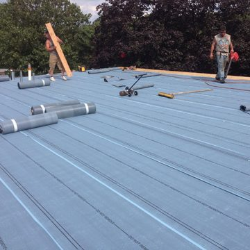 Commercial roofing job
