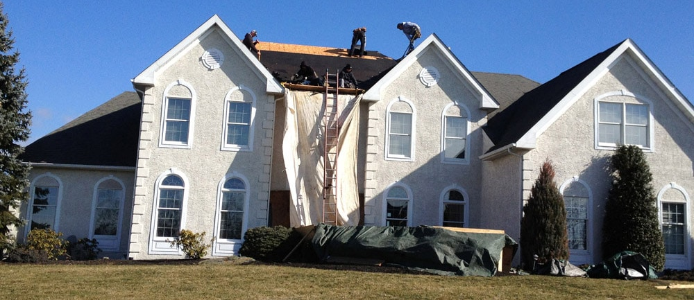 Roofing Contractors at Work