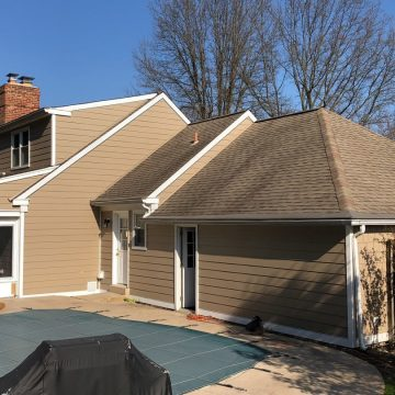 After applying the fiber cement siding