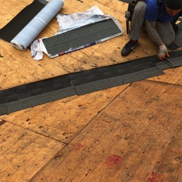 protecting the seams on the new Brookhaven roof