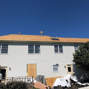 All shingles removed from house in Downingtown