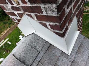 After replacing flashing around the chimney