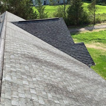 uneven ware on roof