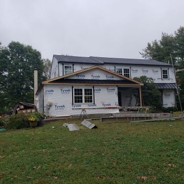 To give this home a new makeover, we stripped it of it's yellow siding.