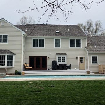 The new look for this home was finally complete in the back!