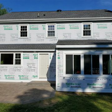 Then we prepped the home for new James Hardie siding.